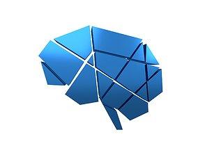3D asset Brain Symbol v1 009