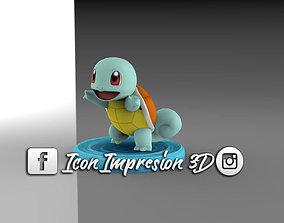 pokemon squirtle con base 3D printable model