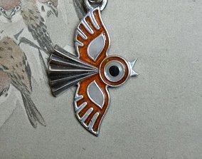 Bird pendant 3D print model nature