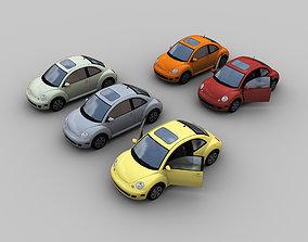 3D asset VW Beetle Turbo 5 color