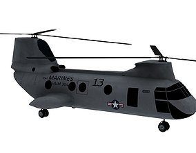 3D asset Lowpoly CH-46