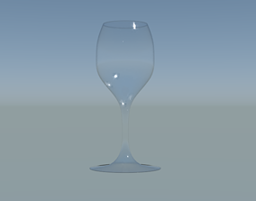 3D asset game-ready Wine Glass cocktail
