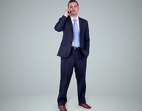 Business Man Talking with Phone 3D model