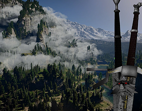 pbr-challenge 3D The witcher swords