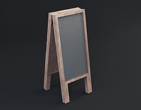 Black Board Game Ready - Low Poly 3d Model low-poly