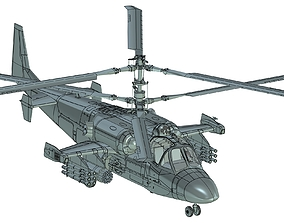 Attack Helicopter complete 3D Model
