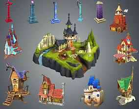 Stylized Fantasy Collection 3D asset