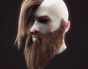 Head Hair Kit Low Poly 4 3D asset