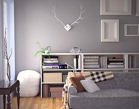 Fall Modern Interior Design Set 3D model