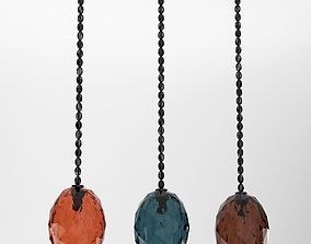 Red Blue And Brown Sconce Lamps 3D
