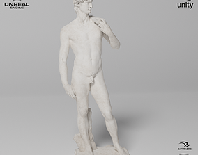 3D model David Sculpture VR AR Mobile-ready Game-ready