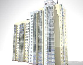 3D 16 floor building