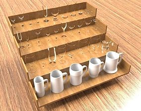 3D model Wine Glass Cups Collection