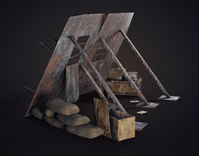 Survival Shield 3D asset
