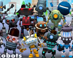 animated 3DRT-Chibii Robots