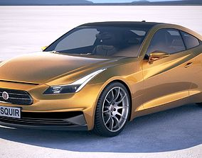 3D model Generic Coupe RS 2017