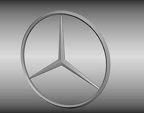3D model Mercedes logo
