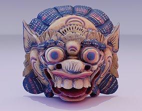PBR African Mask 04 hypoly 3D model