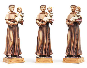 3D model Statue - Saint Anthony Painted