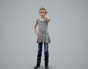 Standing Casual Girl Talking on the Phone 3D