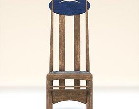 Arts and Crafts Argyle Chair Charles Rennie Mackintosh 3D