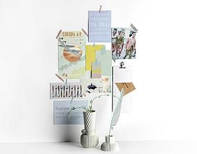 3D Moodboard with Finnsdottir Vases and Hay Feather Pen