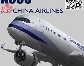 3D asset Airbus A350-900 XWB China airlines livery