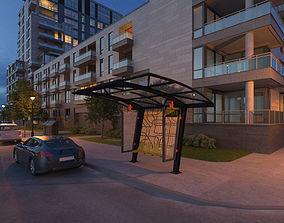 Bus Stop architecture 3D