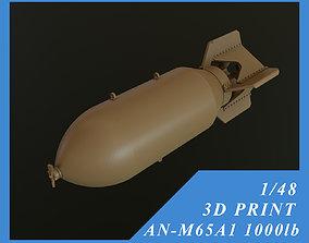3D print model US GP BOMB AN-M65A1 1000LB 1-48