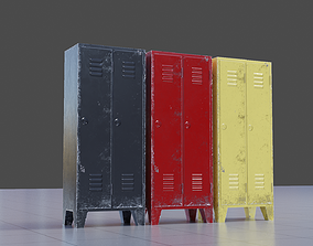 Metal Cabinet 3D model low-poly