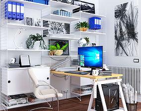 3D model IKEA Work Space Furniture Set