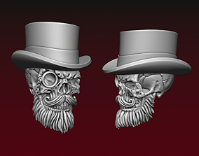3D print model Skull in Top Hat