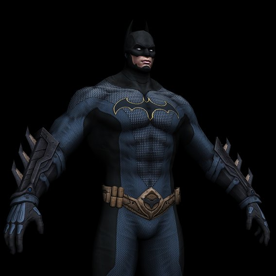 BATMAN Low-Poly 3D model 3DS MAX Low-poly 3D model