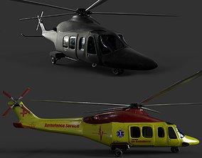 3D asset AgustaWestland AW139 Two skins model