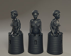 3D print model Black Chess Female Rook