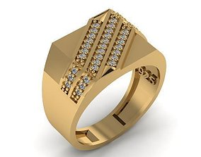 3D printable model fashion man ring jewelry cam