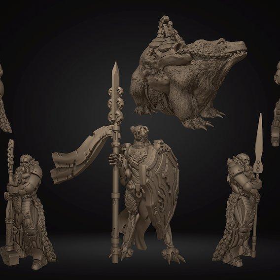 Warrior Knights Printable Miniatures Mini Set