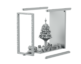 Chrisstmas bookend 3D printable model