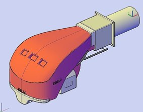 Gas burner Riello RS 160-M BLU 3D model