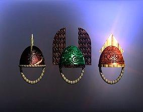 Simple Berserk helmets collection 3D model