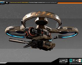 RTS - 16 Quad Drone 3D asset