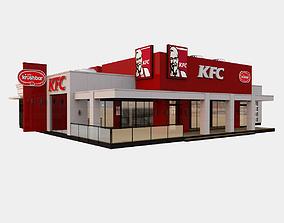 3D KFC Crushbar Drive Thru
