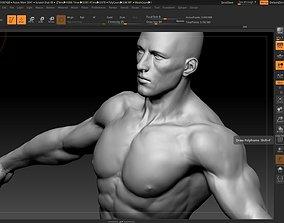 3D model white male 3