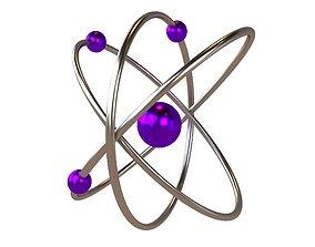 3D asset Cartoon Atom v2 004