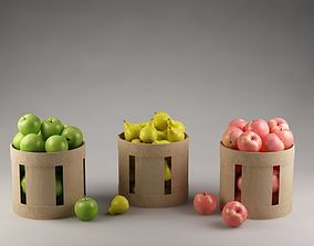 3D sweetmeat Baskets with fruits 01