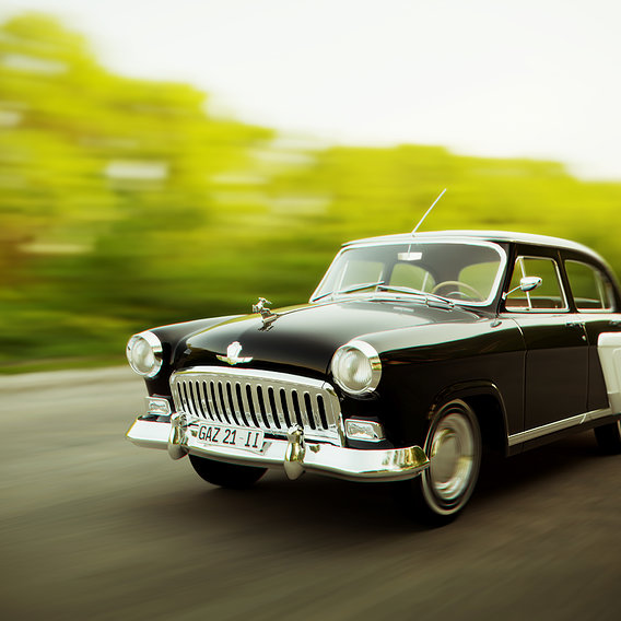 Gaz21 Volga on the Road
