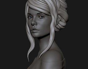 3D model portrait of a cute girl