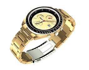 3D print model Gold Mens Watch